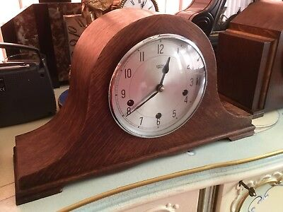 Westminster Chimes Napoleon Hat Mantle Clock - Smiths Enfield