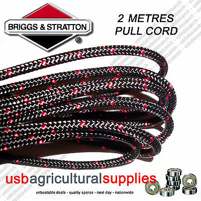 Genuine Briggs 3.2Mm X 1.3 Mtr Metres Pull Starter Cord Rope 790965 Engine