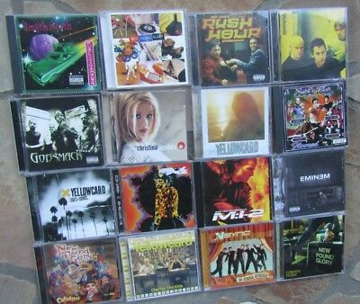 Lot of 16 Assorted CDs Assorted Artists/Bands All are scratched Fair Condition