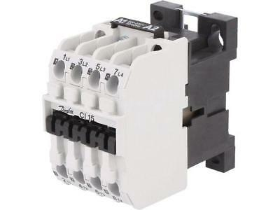 037H005032 Contactor4-pole 230VAC 16A NO x4 DIN, panel CI 15  DANFOSS