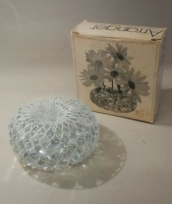 Vintage Flower Arranger Glass Beads Floral Stem Bouquet Display Frog 1971 Retro