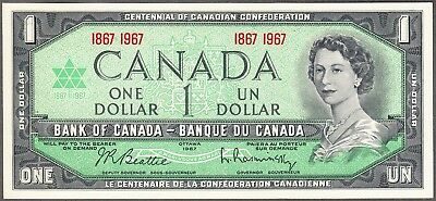 1967 Bank of Canada - $1 Note - UNC - 1867 - 1967 Commemorative Bank Note