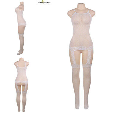 Catsuit Dessous Netz Body Fishnet Reizwäsche Body Stocking | Xs-M |H31062-Hh