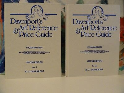 Davenport's Art Reference and Price Guide, 1997-1998 Set by R. J. Davenport