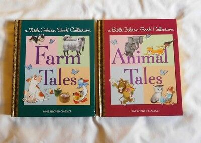 A Little Golden Book Collection-2 books of 18 stories(Animals Tales & Farm Tales