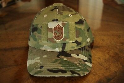 Usaf Us Air Force Multicam Ocp I/a E-9 +D Camouflage Combat Ballcap Ball Cap Hat