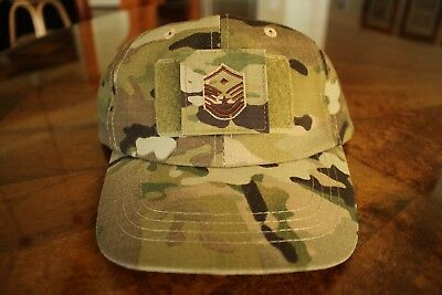 Usaf Us Air Force Multicam Ocp I/a E-7 +D Camouflage Combat Ballcap Ball Cap Hat