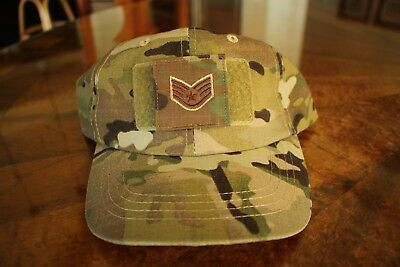 Usaf Us Air Force Multicam Ocp I/a E-5 Camouflage Combat Ballcap Ball Cap Hat