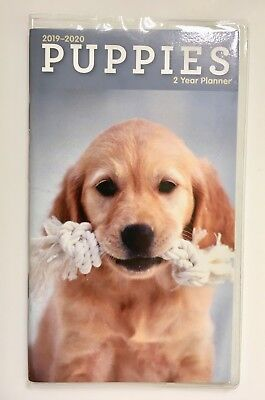 2019-2020 Puppies Pocket Calendar Purse Perfect New Planner Dog lovers