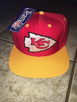 Kansas City Chiefs NFL Vintage 90s Snapback Hat New With Tags Free USA 🇺🇸 Ship