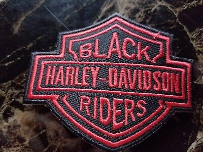 HD RED BLACK  HARLEY-DAVIDSON RIDERS LARGE CHENILLE PATCH