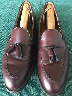 85161c76cf29e Alden 663 Tassel Moccasin Burgundy Calfskin Loafers Dress Shoes - Men's 12  ...