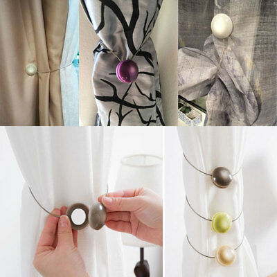 Cat-eye Magnet Curtain Buckles Tie-Backs Cord Resin Steel Wire Valance Drapery
