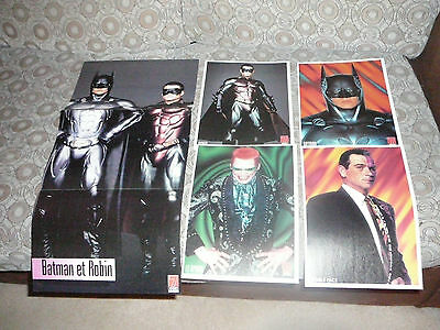 Lot Of 6 Batman & Robin George Clooney Pin Up Posters Photos Affiches Clippings