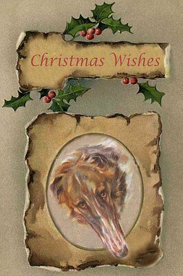 Borzoi Dog Portrait by Persis Kirmse 1920 - LARGE New Blank Christmas Note Cards