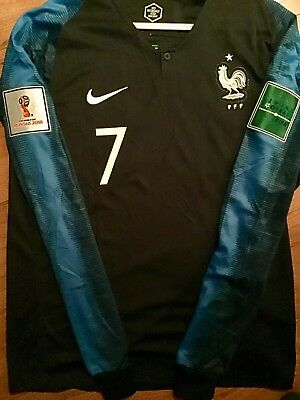1384059eef7 New Mens Blue France Griezmann long sleeve Soccer Jersey Shirt size Extra  Large