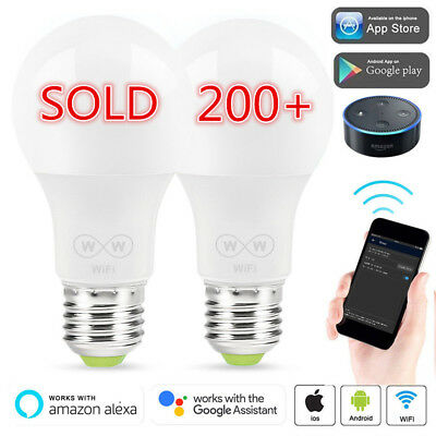 4Pack 6.5W Wifi Smart LED Light Bulb for Amazon Alexa Google Home Remote Control
