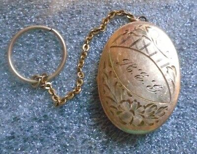 fine antique Victorian gold plated locket with chain
