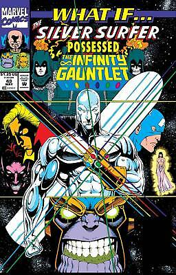 True Believers What If Silver Surfer Possessed Gauntlet #1 Mcg Nm 1St Print 2018