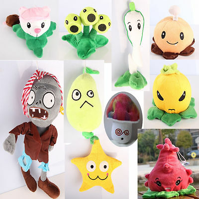Plants vs Zombies 2 PVZ Soft Doll Plush Baby Staff Toy Stuffed Figures Game Gift