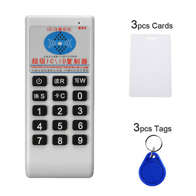 IC NFC ID Card RFID Writer Copier Reader Duplicator Access Control+ 6 Cards BL