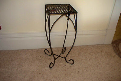 "Antique 23"" High Wrought Iron Plant Stand"
