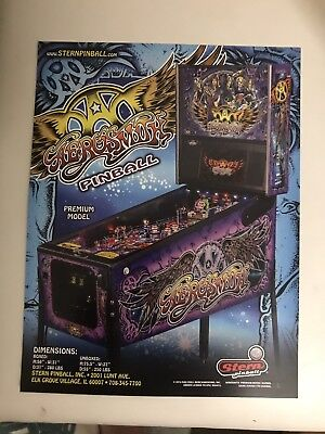 Stern Aerosmith Premium Pinball Machine Flyer -Original