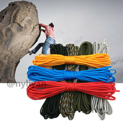 Sports 550 Paracord Parachute Cord Lanyard Mil Spec Type III Stand 7Core Survivl