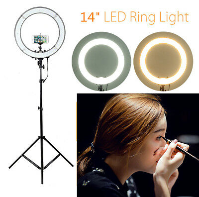 14inch LED Ring Light Selfie Photo Photography For Camera Vlog Video Tripod Bag