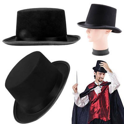 Tall Top Hat For Adult Kid Magician Ringmaster Cap Gentlemen Steampunk  Costume 22d2d50e6b97