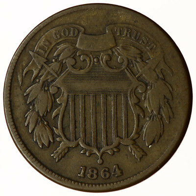 1864 Two Cents USA 2c