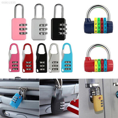 4A3E 06CD Luggage Travel Coded Padlock Premium 3 Digit Metal Suitcase Outdoor