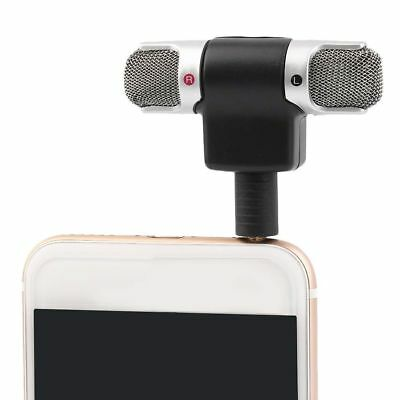 Mini Portable Digital Stereo Voice Mic Microphone Recorder For Phone PC Laptop