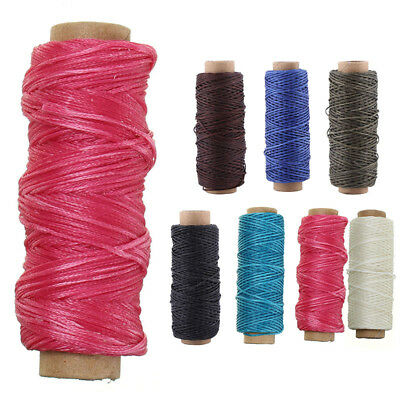 50m Waxed Cord Craft Sewing Thread Wax DIY Bracelet Jewelry Linen Spool Leather