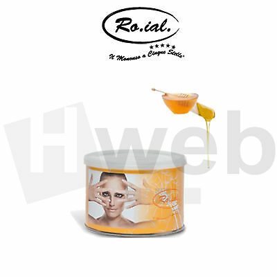 Roial Cera Depilatoria Vaso Barattolo Miele Liposulibile Professionale 400ml