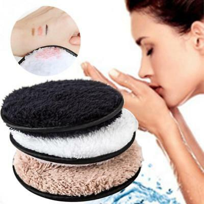 Reusable Wool Eyes Make Up Remover Wipes Facial Cleanser Pads Washable Cotton