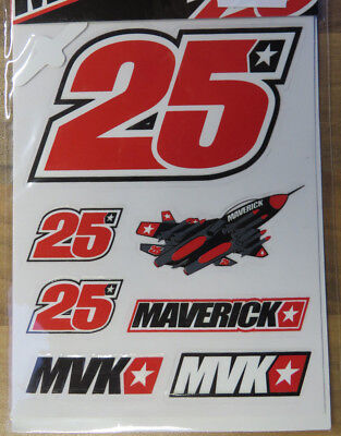 MV25 Maverick Vinales Sticker Kit Aufkleber MV 25 MotoGP Yamaha Factory Racing