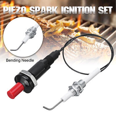 Universal Piezo Spark Ignition Set With 30cm Cable Push Button Igniter For BBQ