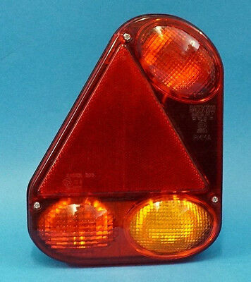 LH Radex 2900 9 pin 'Quick-Fit' Rear Trailer Light with Marker Power Outlet
