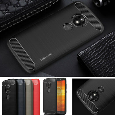 Premium Carbon Fibre Shock Protective Case Cover for UK Motorola Moto E5 Play
