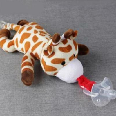 1Pc Baby Pacifier Toy Dummy Plush Animal Soother Teething Nipple Toys Hot JAZZ