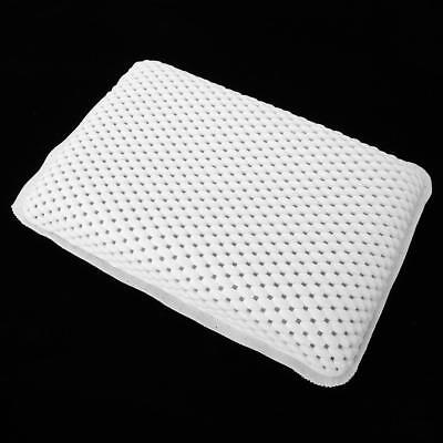 Non-Slip Cushioned Bath Tub Spa Pillow Great Relaxing Bathtub Suction Cups White