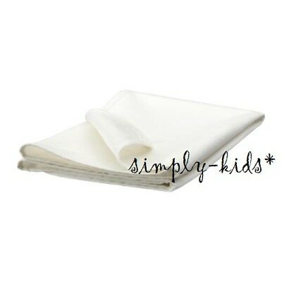 "IKEA LEN Mattress Protector Crib Bed Pad White 39 x 27"" WATERPROOF Cotton - New"