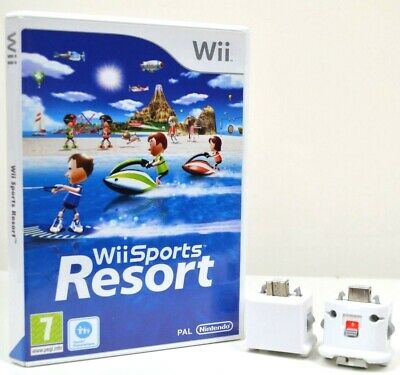 Wii Sports Resort w/ 2 Wii MotionPlus Attachments (Fast Post) - Boxed