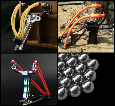 Deluxe High Velocity Metal Hunting Fishing Camping Outdoor Slingshot Catapults
