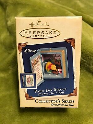 2005 Winnie The Pooh Hallmark Ornament Collectors Series #8 Rainy Day Rescue NIB