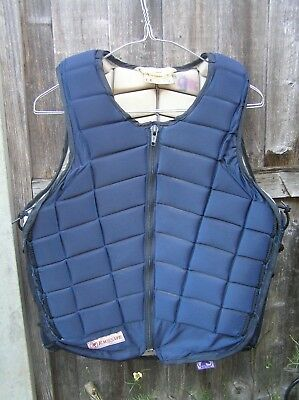 Racesafe RS2000 body protector adult medium blue used  3572