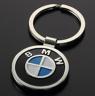 BMW Beemer Double Sided Car Logo Metal Keyring