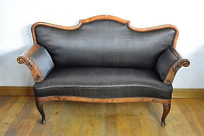 Antique carved Victorian settee sofa