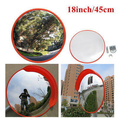 18inch Wide Angle Security Curved Convex Road PC Mirror Traffic Driveway Safety